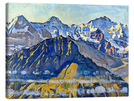 Canvas  Eiger, Mönch and Jungfrau in the sun - Ferdinand Hodler