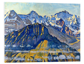 Foam board print  Eiger, monk and virgin in the sun - Ferdinand Hodler