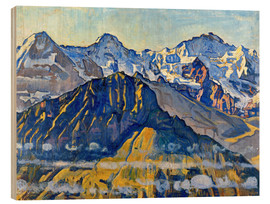 Wood  Eiger, Mönch and Jungfrau in the sun - Ferdinand Hodler