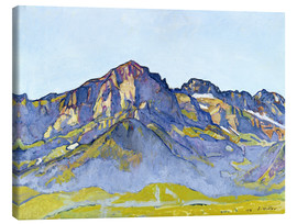 Canvas print  Dents Blanches near Champéry - Ferdinand Hodler