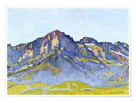 Premium poster  Dents Blanches near Champéry - Ferdinand Hodler
