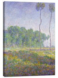Canvas  Frühlingslandschaft, Giverny (Paysage du Printemps, Giverny). 1894 - Claude Monet