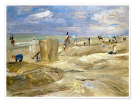 Poster  Beach in Noordwijk - Max Liebermann
