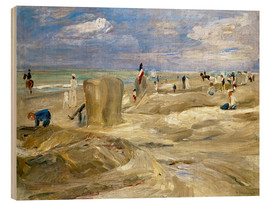 Wood print  Beach in Noordwijk - Max Liebermann