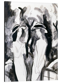Aluminium print  Two girls - August Macke
