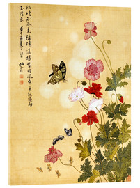 Acrylic print  Poppies and Butterflies - Ma Yuanyu