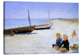 Canvas print  Two boys sitting in the sunshine on skagen beach - Peder Severin Krøyer