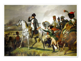Premium poster Napoleon Bonaparte, Battle of Wagram 06 July 1809th