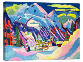 Canvas  Davos in winter - Ernst Ludwig Kirchner
