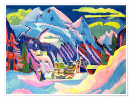 Poster  Davos in winter - Ernst Ludwig Kirchner
