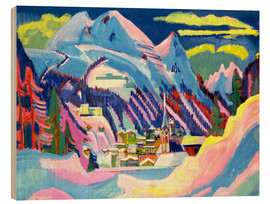 Wood  Davos in winter - Ernst Ludwig Kirchner
