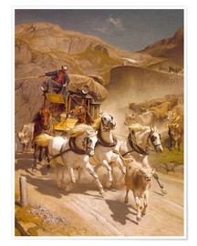 Premium poster The Gotthard Post, 1873