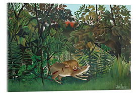 Acrylic print  The hungry lion - Henri Rousseau