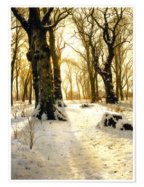 Peder Mork Monsted - Winter forest with deer
