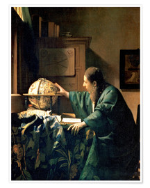 Premium poster  The Astronomer - Jan Vermeer