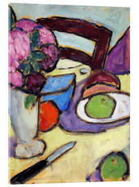 Acrylic print  Still Life with a chair and a vase - Alexej von Jawlensky