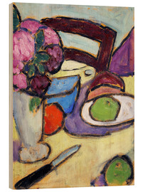 Wood print  Still Life with a chair and a vase - Alexej von Jawlensky