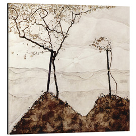 Aluminium print  Autumn sun and trees - Egon Schiele