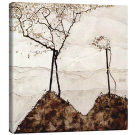Canvas print  Autumn sun and trees - Egon Schiele
