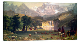 Canvas print  Indian camp in the Rockies - Albert Bierstadt
