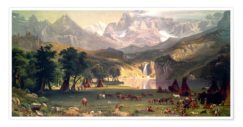 Premium poster Indian camp in the Rockies