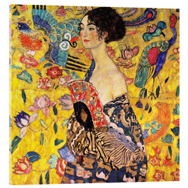 Acrylic glass  Lady with a Fan - Gustav Klimt