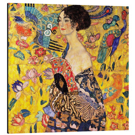 Alu-Dibond  Lady with a Fan - Gustav Klimt