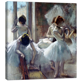 Canvas print  Group of dancers - Edgar Degas