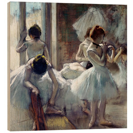 Wood print  Group of dancers - Edgar Degas