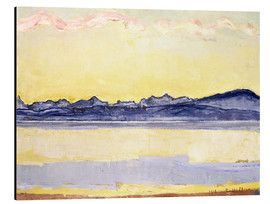 Aluminium print  Mont Blanc with red clouds - Ferdinand Hodler