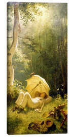 Canvas  The Painter (A Rest in the Woods) - Carl Spitzweg