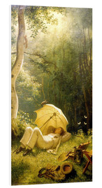 Foam board print  The Painter (A Rest in the Woods) - Carl Spitzweg