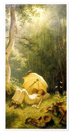 Premium poster  The Painter (A Rest in the Woods) - Carl Spitzweg