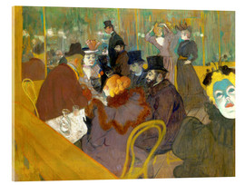 Acrylic print  At the cabaret - Henri de Toulouse-Lautrec