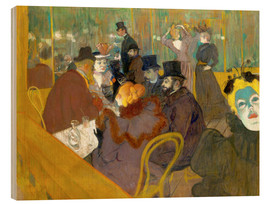 Wood print  At the cabaret - Henri de Toulouse-Lautrec