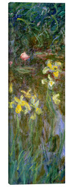 Canvas  Daffodils in the field - Claude Monet
