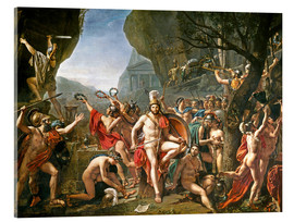 Acrylic print  Leonidas on the Thermopylae - Jacques-Louis David