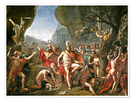 Premium poster Leonidas on the Thermopylae