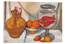 Foam board print  Still life with fishbowl - Paula Modersohn-Becker