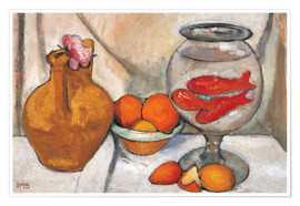 Premium poster Still life with fishbowl
