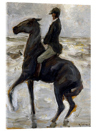 Acrylic print  Rider on the beach - Max Liebermann