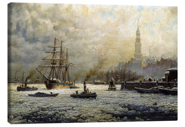 Canvas  The Port of Hamburg, 1893 - Georg Schmitz