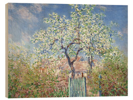 Wood  The gates in Vetheuil - Claude Monet