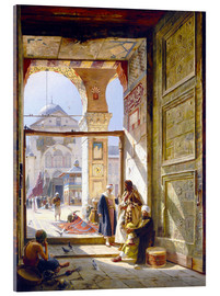 Acrylic glass  The goal of the great Umayyad Mosque in Damascus - Gustave Bauernfeind