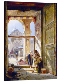 Alu-Dibond  The goal of the great Umayyad Mosque in Damascus - Gustave Bauernfeind