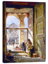 Canvas print  The gate of the great Umayyad Mosque in Damascus - Gustave Bauernfeind