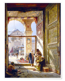 Premium poster  The gate of the great Umayyad Mosque in Damascus - Gustave Bauernfeind