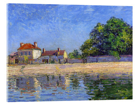 Acrylic glass  Shore of the Loing, Saint-Mammès - Alfred Sisley
