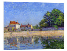 Foam board print  Shore of the Loing, Saint-Mammès - Alfred Sisley
