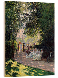 Wood print  In the Park Monceau - Claude Monet